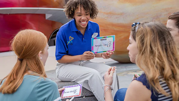 Explore the attractions of Future World at Epcot to develop an understanding of how human needs and wants drive the development and acceleration of technology.