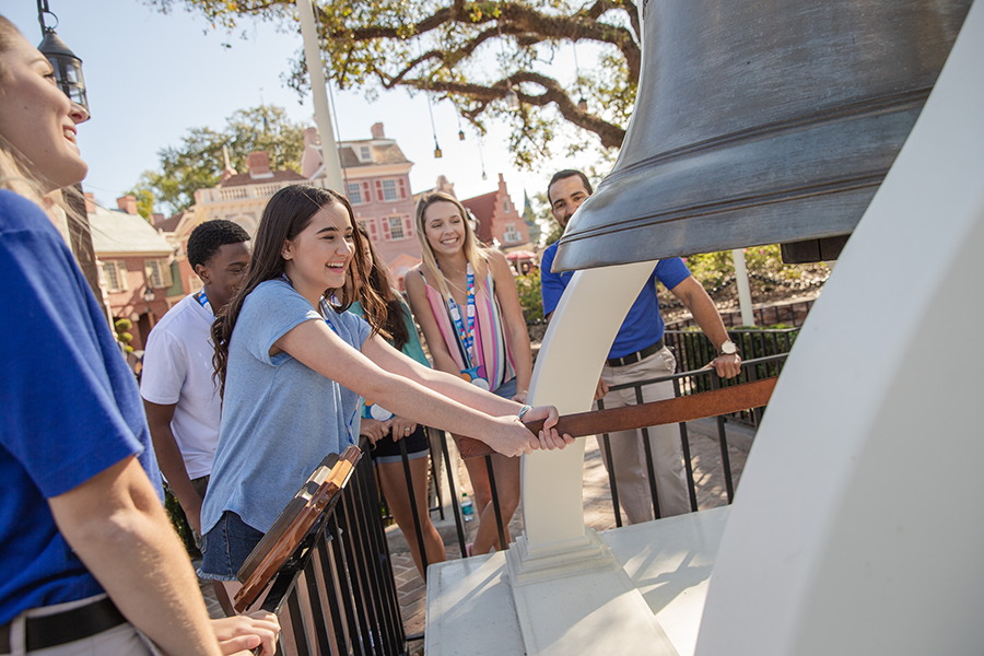 Be transported back in time to experience American history through the stories and attractions in Liberty Square and Frontierland.